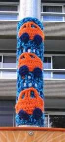Yarn bombing Twilight Taggers