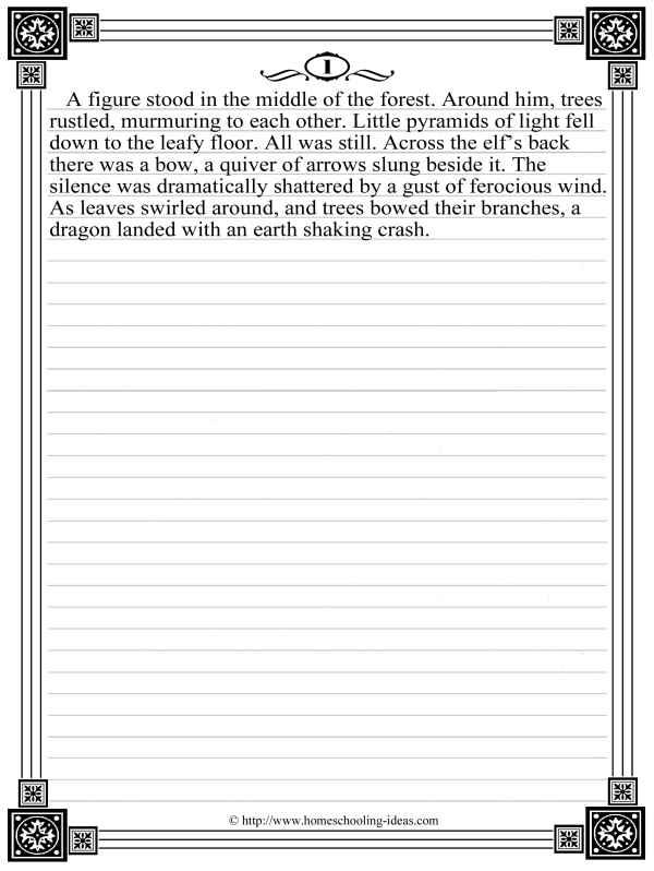 Creative writing help story starters