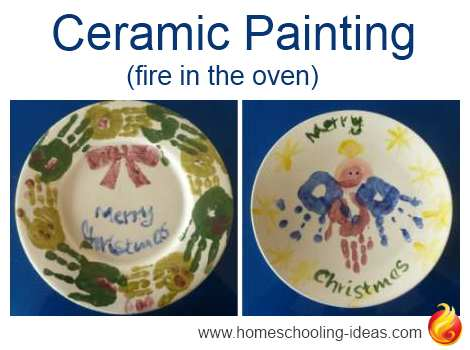 Firing Pottery in an Oven - Christmas Plates Idea