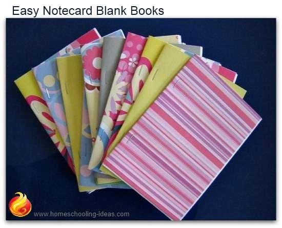 Easy to make notecard books