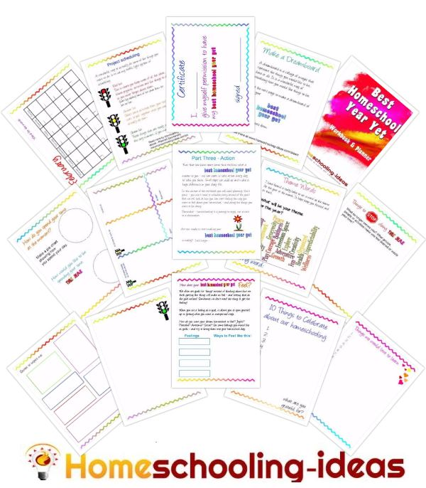 best homeschool year planner pages