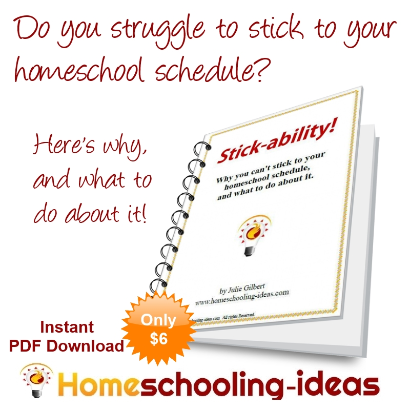 Stick-ability Ebook Homeschololing
