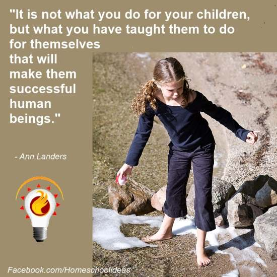 It is not what you do for your children.