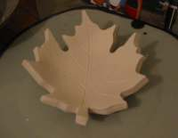 Clay Projects for Kids -Maple Leaf Bowl