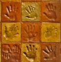 Clay Projects for Kids - handprint tiles