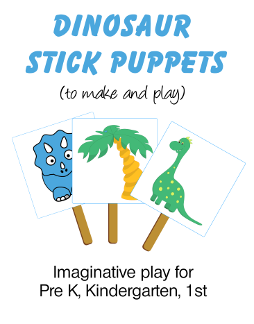 Dinosaur Stick Puppets