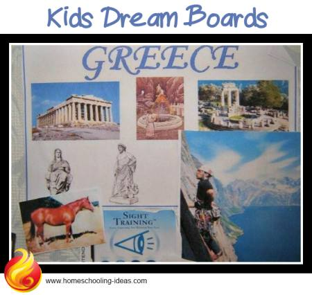 Making dreamboards with kids