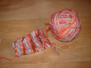 Yarn dyed with kool aid