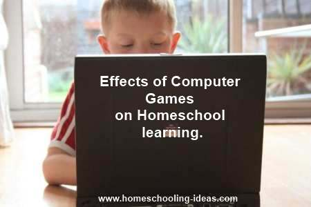 Effects of computer games - boy on laptop
