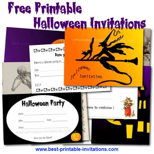 40th Birthday Ideas: Free Halloween Birthday Invitation Templates ...