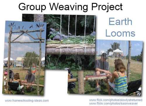 Group weaving - Earth Looms