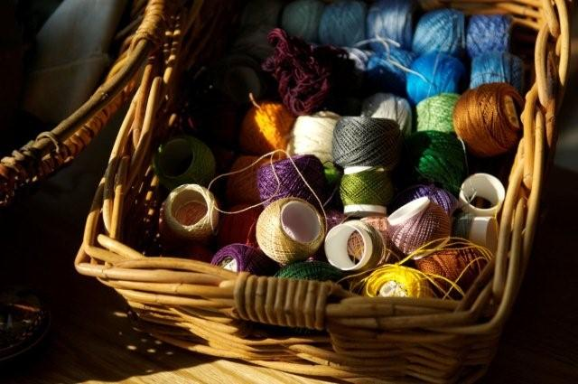 Home School Crafts - Basket of Threads