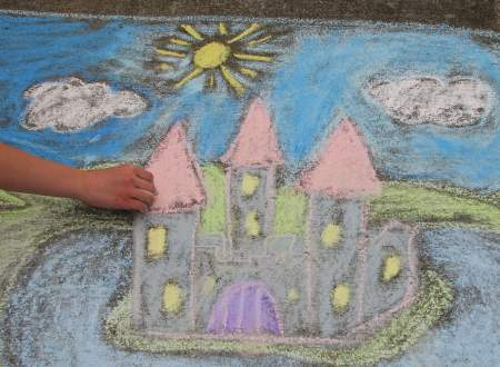 Homemade chalk drawing