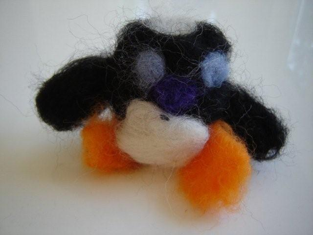Needlefelted Penguin.