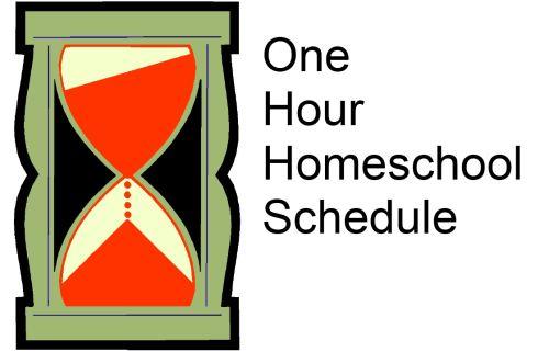 One hour homeschooling schedule.