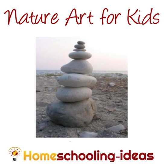 Nature art with www.homeschooling-ideas.com