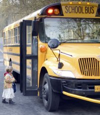 Homeschooling Pros and Cons - taking the school bus