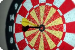 homeschooling styles - bullseye on dartboard