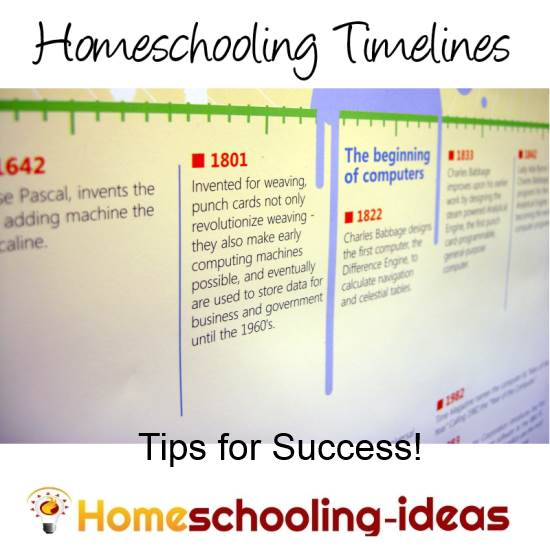 Homeschool Timeline - How to create a timeline.