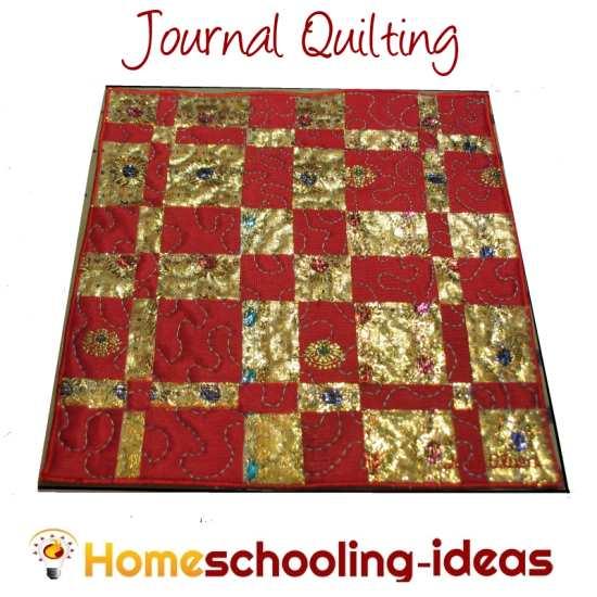 Journal Quilting in homeschool
