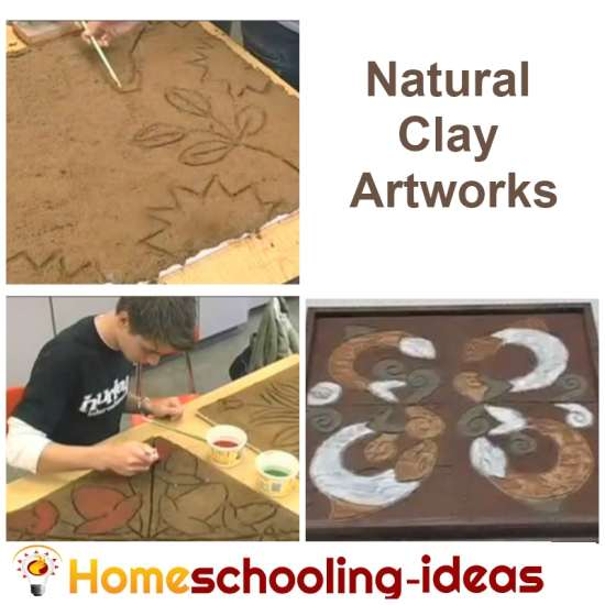 Natural Clay Artwork Homeschooling Project