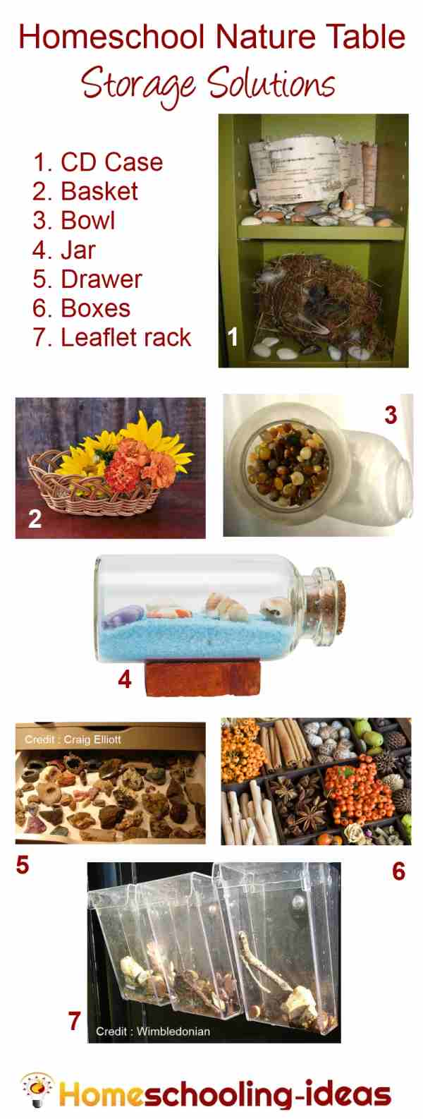 Nature Table Storage and Display Ideas