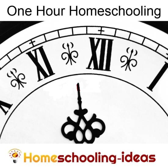Ohe Hour Homeschool Schedule