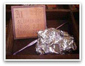 Periodic table for kids - Aluminum