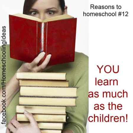 Reasons to Homeschool - you learn as much as the children!