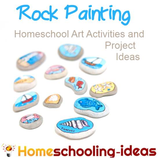 Rock Painting with www.homeschooling-ideas.com