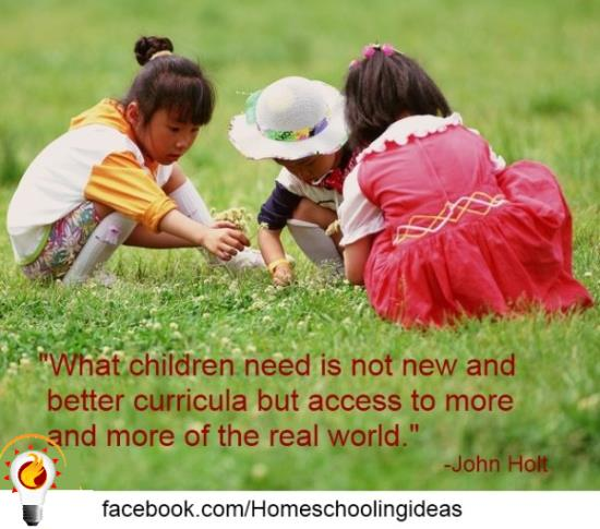 John Holt - what children need is not more and better curricula.