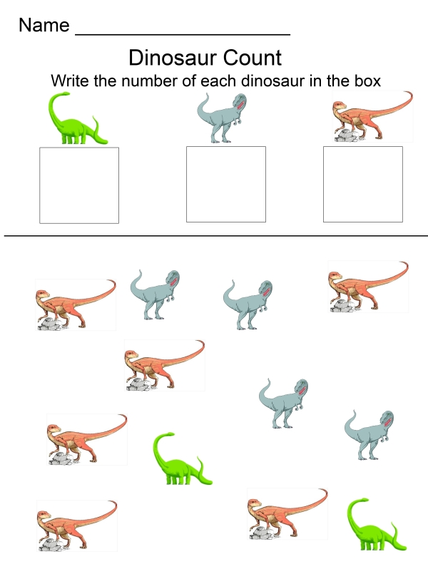 Dinosaur Activity Pack -Counting