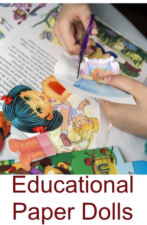 educational paper doll books