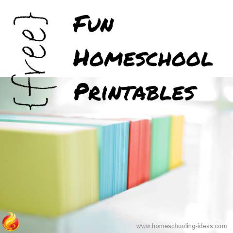 Free fun homeschool printables