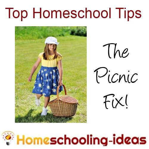 home school tips - picnic fix