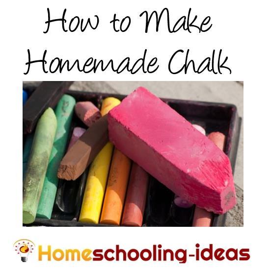 Homemade Chalk - How to make chalk