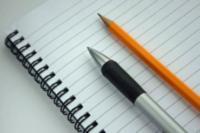 Homeschool scheduling in a notebook