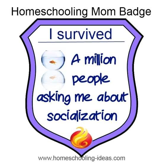 homeschool socialization survival badge