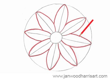 Step 3 - How to draw a daisy