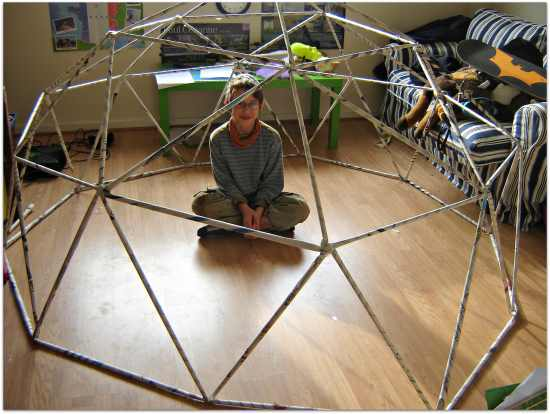 Make a geodesic dome