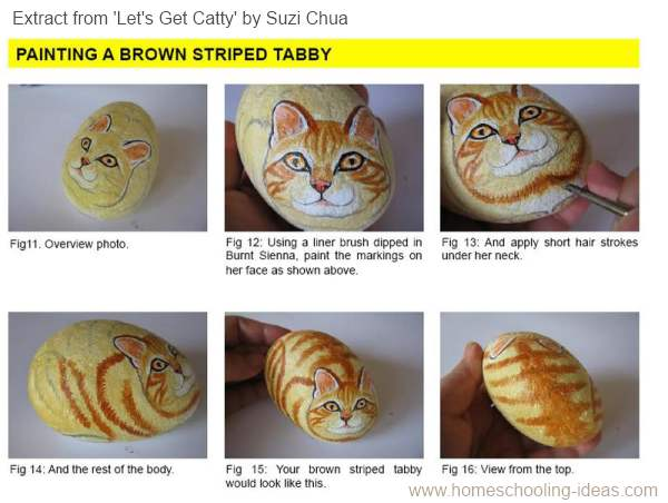 Rock Painting Tutorial - Let's Get Catty by Suzi Chua+