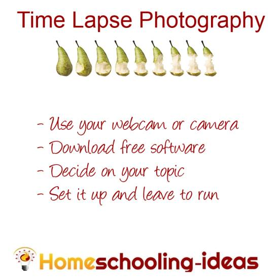 Time Lapse Photography for Homeschool