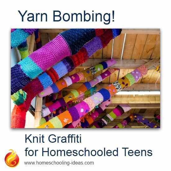 Yarn Bombing for Homeschoolers